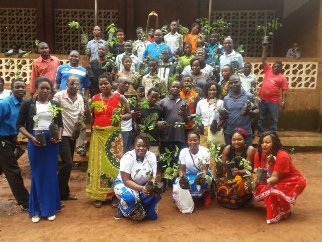 ARCHDIOCESE OF BLANTYRE YCW PLANTS TREES IN PHALOMBE