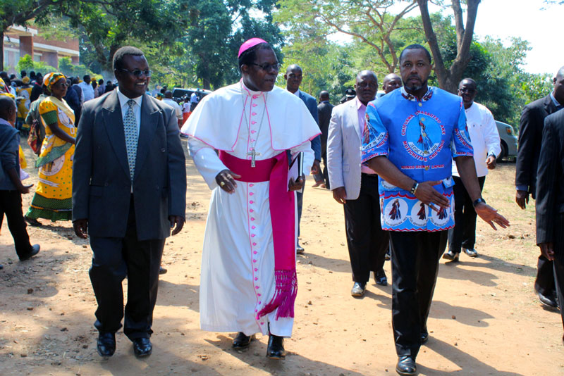 Archbishop Ziyaye with Vice President Saulos Chilima